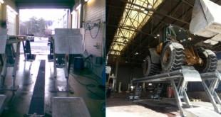 Lusilectra disponibiliza elevador galvanizado, própria para estação de serviço a pesados