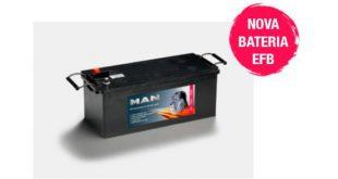 Novas baterias EFB da MAN para pesados