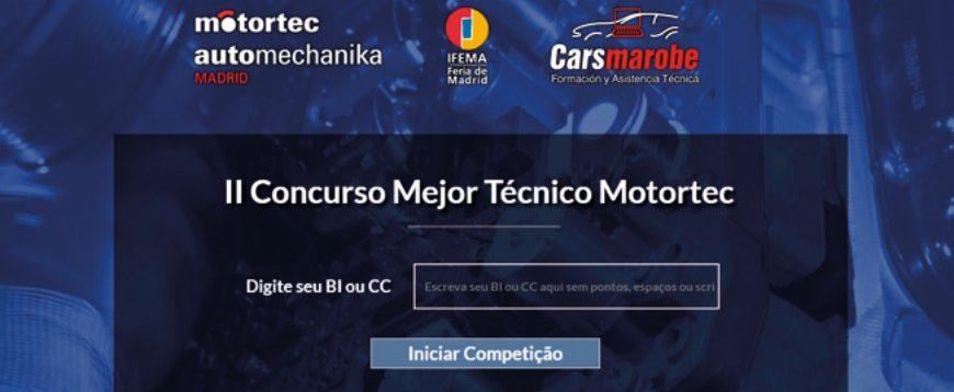 Concurso Melhor Técnico Motortec 2019 com inscrições abertas até 6ª feira (dia 18 de janeiro)