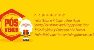 A PÓS-VENDA deseja a todos Boas Festas e Feliz Natal