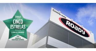 Centros Roady galardoados com Prémio Cinco Estrelas