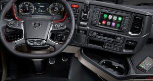 Scania apresenta Apple CarPlay para os seus modernos camiões