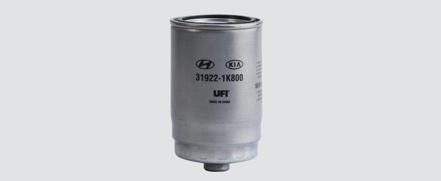 Filtro diesel inovador da UFI para aplicações Hyundai e Kia