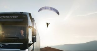 Volvo Trucks: primeira acrobacia do mundo com um camião e um parapente