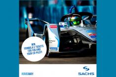 Sabe como ganhar uma viagem ao Fórmula E-Prix 2019 em Berlim com a Sachs?